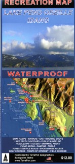 Lake Pend Oreille Recreation Map (Waterproof)